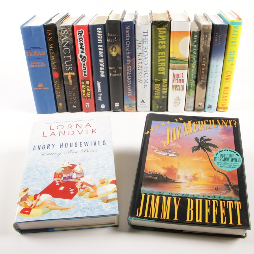 """First Edition """"Where is Joe Merchant?"""" by Jimmy Buffett with More Fiction Books"""
