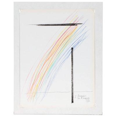 """Man Ray Color Lithograph """"Invasion de l'Espace"""" for """"XXe Siècle"""", 1975"""