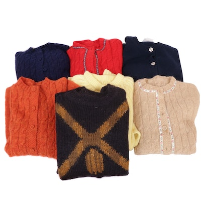 Bloomingdale's, Laura Ashley and Other Knit Sweaters and Cardigans, Vintage
