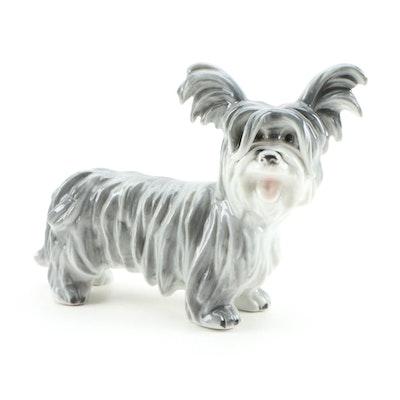 Ebeling & Reuss Co. Porcelain Terrier Figurine, Early 20th Century