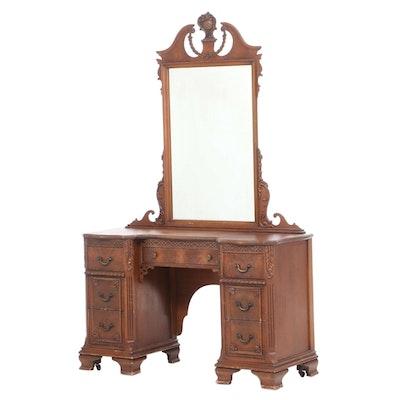 Georgian Style Mahogany Vanity Desk, circa 1940