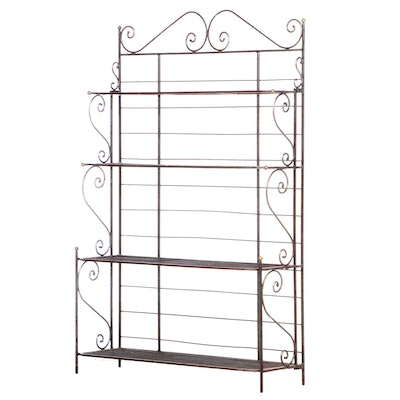 French Style Wire Baker's Rack, Late 20th Century