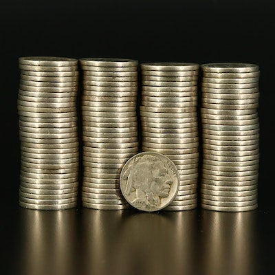 115 Various Buffalo Nickels With Readable Dates