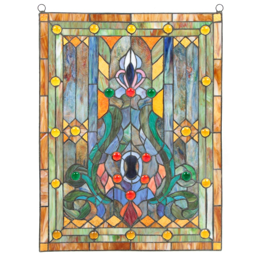 Leaded Stained Glass Window Panel