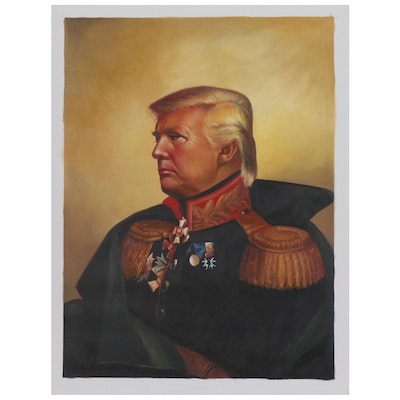 "Oil Painting after Steve Payne in the Manner of George Dawe ""Donald Trump"""