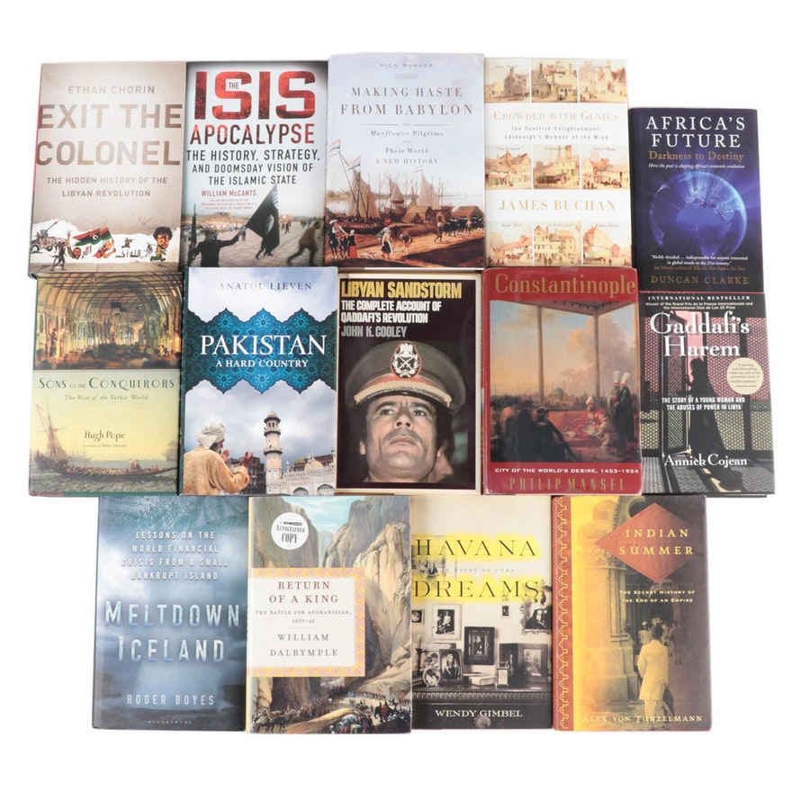 First Edition Middle East, World History, and Economics Books