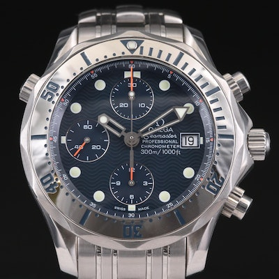 Omega Seamaster 300M Chrono Diver Stainless Steel Automatic Wristwatch