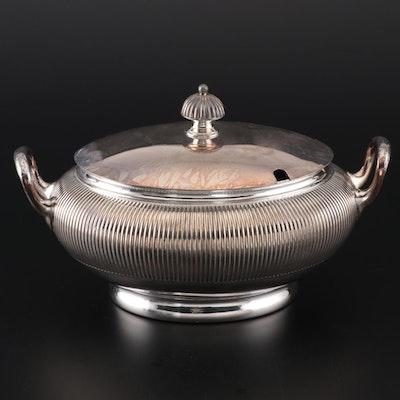 Meriden Britannia Company Silver Plate Tureen, Mid to Late 19th Century