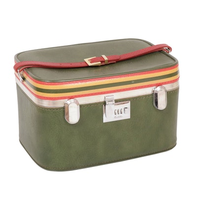 Ventura Makeup Train Case Travel bag, 1960s Vintage