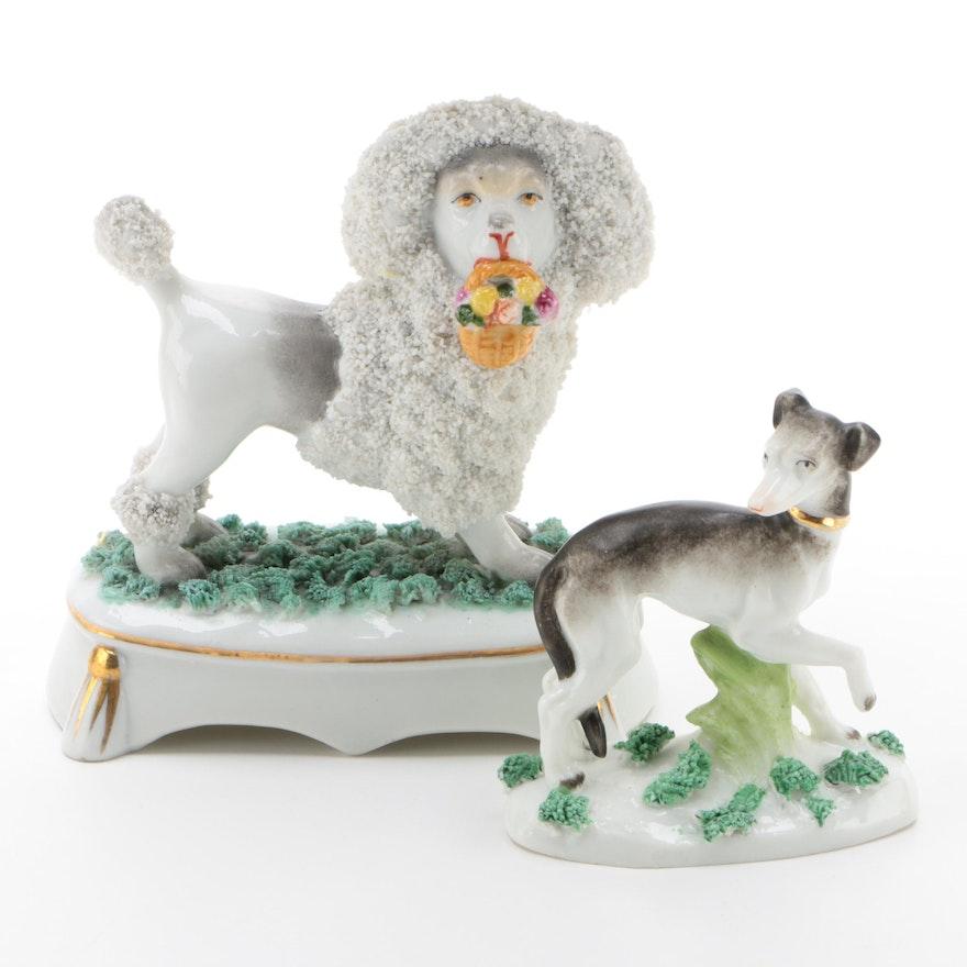 Porcelain Dog Fairing Figurines, 1900