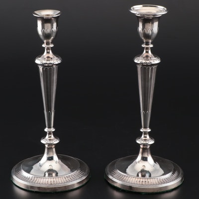 John Parsons & Co. Georgian Weighted Sterling Candlesticks, 1789