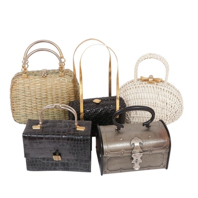 Koret and Other Woven and Leather Top Handle Bags