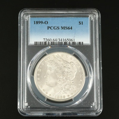 PCGS Graded MS64 1899-O Silver Morgan Dollar