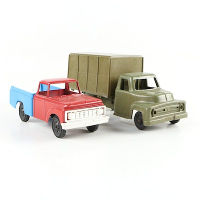 Irwin Plastic Army Truck with Ford Pickup, Mid-20th Century
