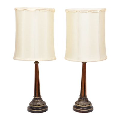 Pair of Art Deco Style Table Lamps, Mid-20th Century