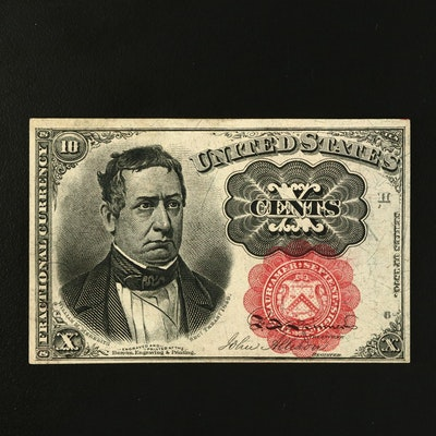 Series of 1874 Fifth Issue United States 10 Cent Fractional Currency Note