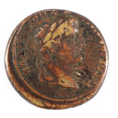 Ancient Roman Imperial AE As Coin of Tiberius, Under Augustus, ca. 14 A.D.