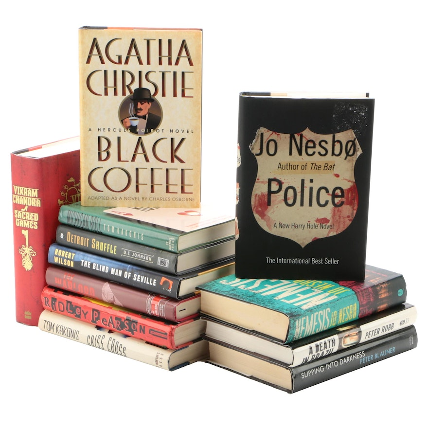 Crime, Mystery, and Thriller Novels Including Jo Nesbø and Agatha Christie