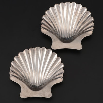 Graff, Washbourne & Dunn Sterling Silver Nut Dishes, Early/Mid 20th Century