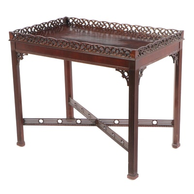 Councill Chippendale Style Mahogany Tea Table