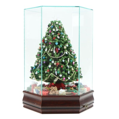 Illuminated Musical Christmas Tree with Display Case
