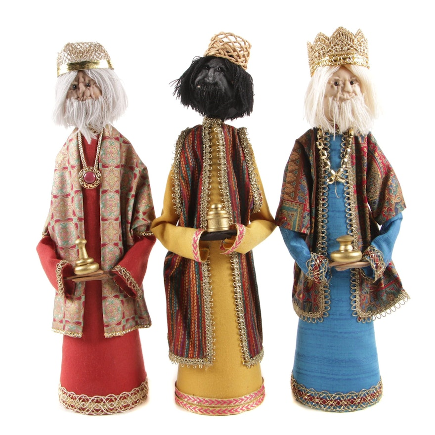 Three Wise Men Figural Christmas Figurines