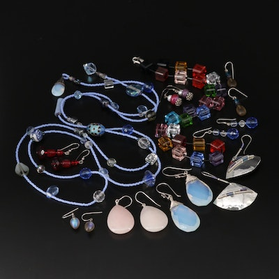 Sterling Assorted Gemstone Necklaces and Earrings