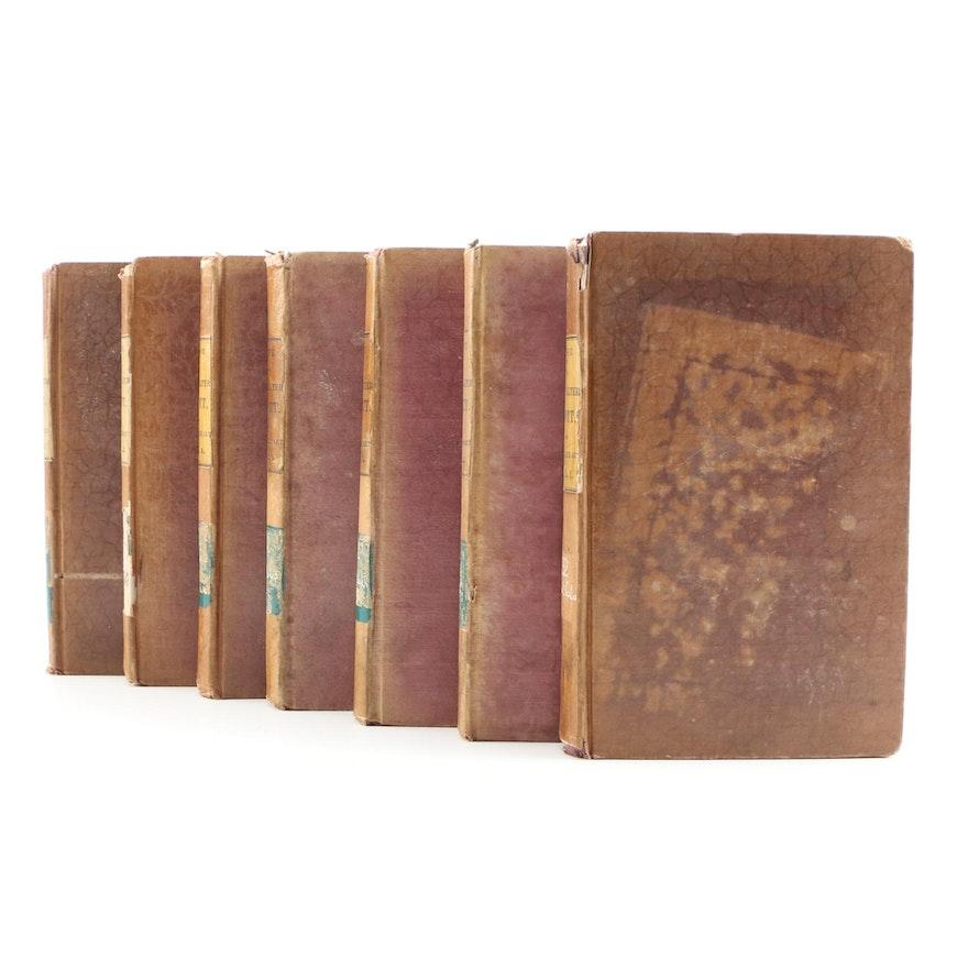 "1837-1838 ""Memoirs of the Life of Sir Walter Scott, Bart."", Seven Volumes"