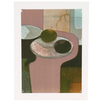 """André Minaux Color Lithograph """"Nature Morte aux Fruits"""", 1967"""