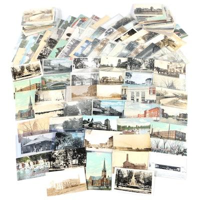 Americana and Landmark Postcards From Marshall, Michigan