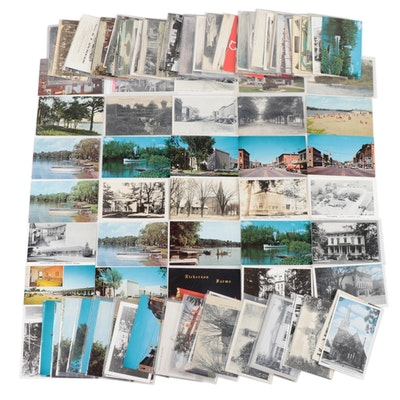 Postcard Collection of Landmarks, Buildings, and Americana of Marshall, Michigan