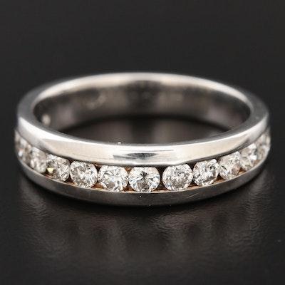 18K White Gold 1.01 CTW Diamond Channel Ring