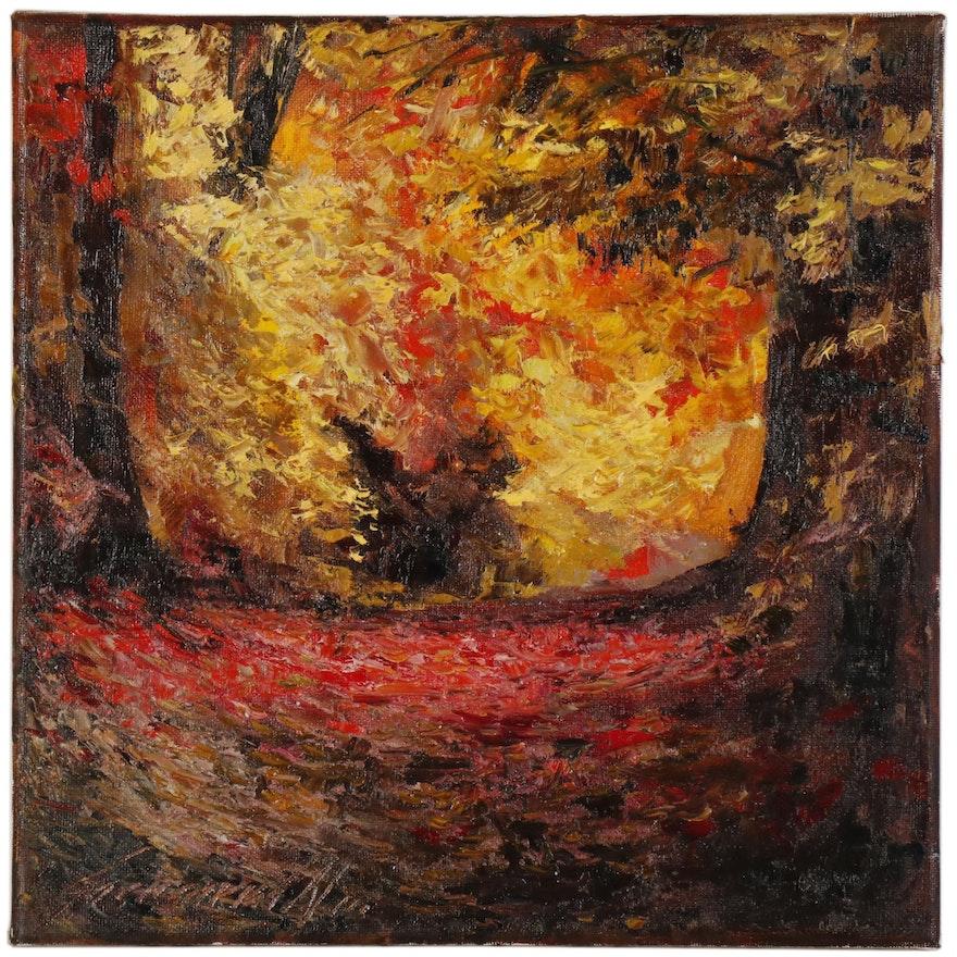 "Garncarek Aleksander Oil Painting ""Jesień"""