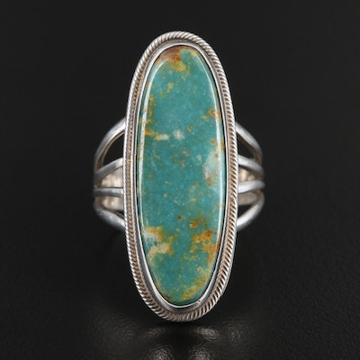 Roie Jaque Navajo Diné Sterling Silver Turquoise Ring