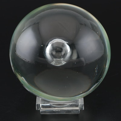 Crystal Sphere with Baccarat Crystal Stand