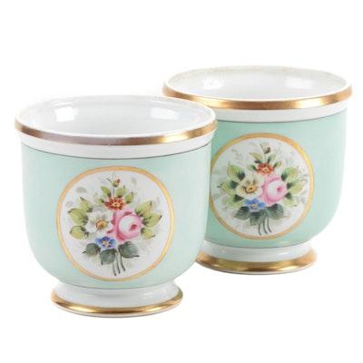Pair of Vista Alegre Porcelain Cache Pots