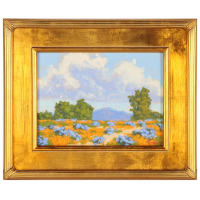 "Marc A. Graison California Impressionistic Oil Painting ""Valley Abundance"", 2020"
