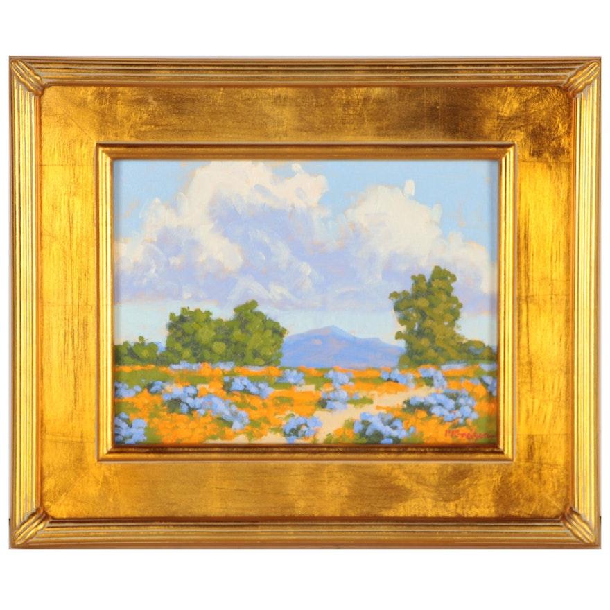 "Marc A. Graison California Impressionistic Oil Painting ""Valley Abundance"", 2020"