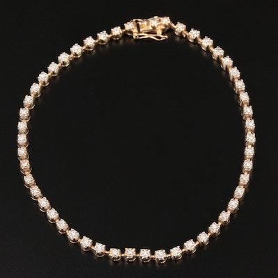 14K Yellow Gold Diamond Bezel Bracelet