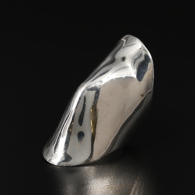 Sterling Silver Convex Ring