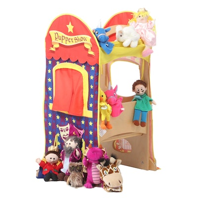 The Learning Tower Wooden Step Stool and Platform with Fitted Puppet Show Stage