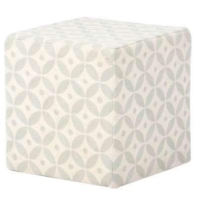 Contemporary Chain Stitched Upholstered Ottoman