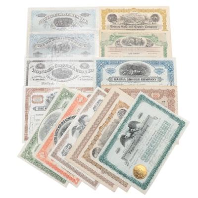 Mining Industry Stock Certificates, 20th Century