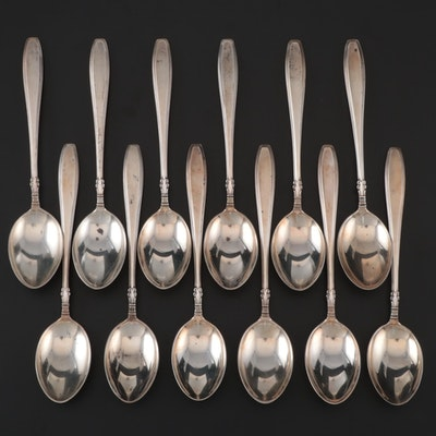 "Gorham ""Nocturne"" Sterling Silver Teaspoons, Mid-Century"