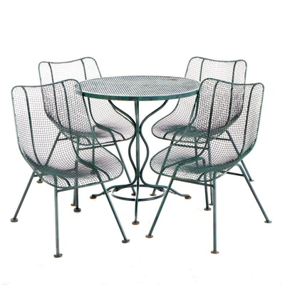 Russell Woodard Molded Metal Mesh Patio Dinette Set, Mid to Late 20th Century