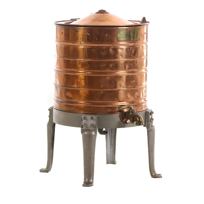 Bishop David Freeman Co. Copper 15 Gallon Starch Cooker, Early 20th Century