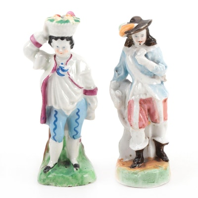 German Porcelain Fairing Figurine and Quill Holder, 1900-1920