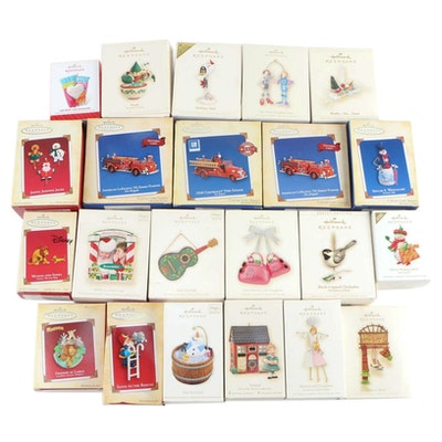 "Hallmark ""Keepsake"" Holiday Ornaments in Original Packaging"