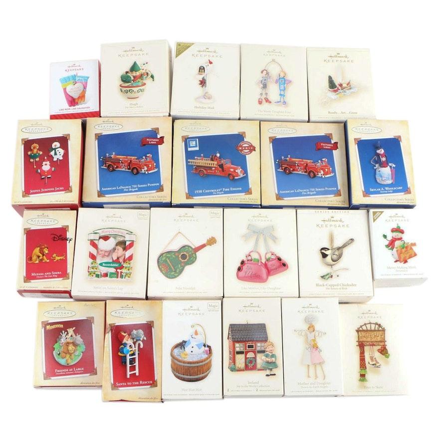 "Hallmark ""Keepsake"" Holiday Ornaments in Original Packaging"