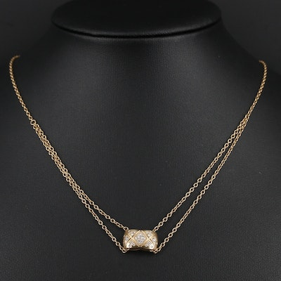 "Chanel ""Coco Crush"" 18K Yellow Gold Diamond Necklace"
